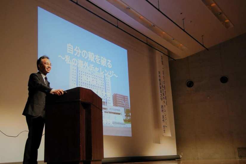 【熊本学園大学付属高校】「自分の殻を破る〜私の海外チャレンジ〜」と題して講演を行いました