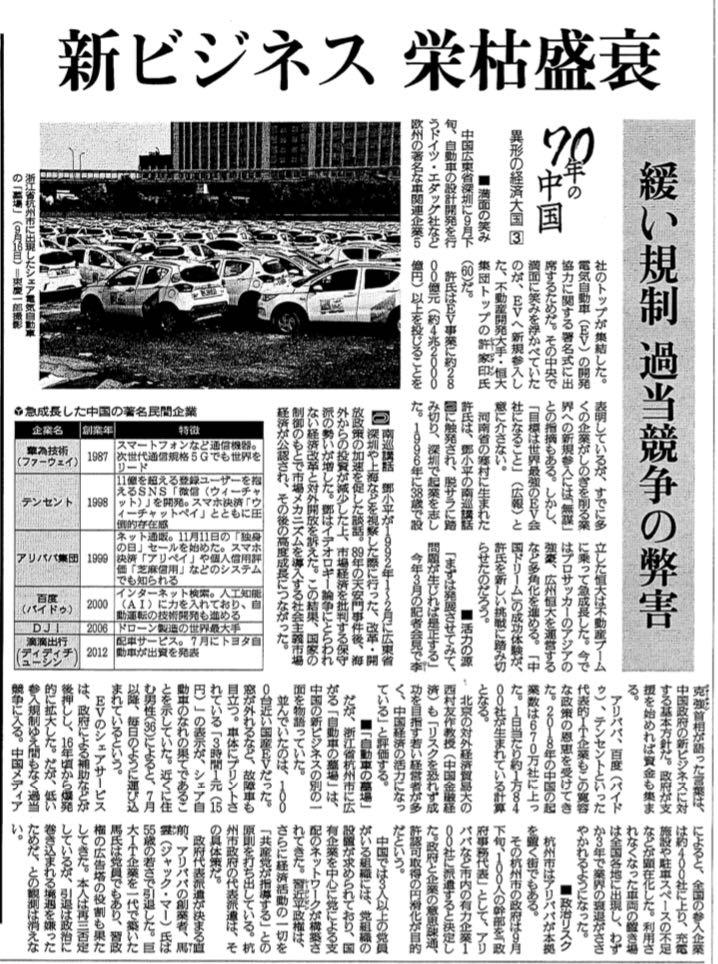 読売新聞_20191006_70年の中国